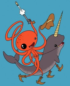 Narwhal vs Octopus Cowboy